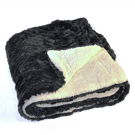 FAUX FUR THROW 60X70
