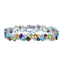 Gem RoManse Multi Gemstone Bracelet in Sterling Silver