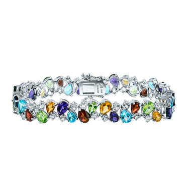 Gem RoManse Multi-Gemstone Bracelet in Sterling Silver
