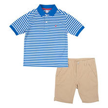 IZOD Boys' Polo and Short Set