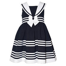 Jessica Ann Nautical Stripe Easter Dress