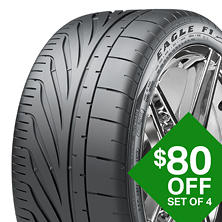 Goodyear Eagle F1 SuperCar G2 - P265/40R19 98Y (left front tire)