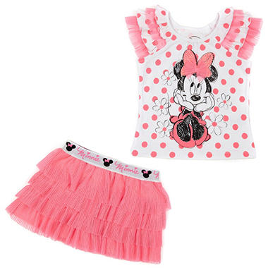 2 PC Minnie Heart Scooter Set