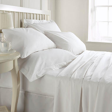 Dependability 180TC Hotel Fitted Sheets - White - Queen - 24 pk