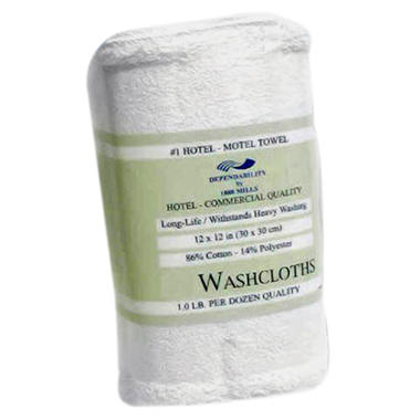 Hotel White Wash Cloth - 300 pk.