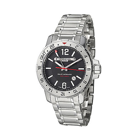 Raymond Weil Men's Nabucco Stainless Steel Case and Bracelet GMT Automatic Watch