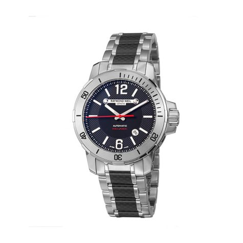 Raymond Weil Men's Nabucco Stainless Steel and Black Carbon Fiber Case and Bracelet Automatic Watch