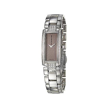 Raymond Weil Women's Shine Stainless Steel Case and Stainless Steel/ Brown Denim Interchangeable Straps Diamond Quartz Watch