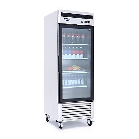 Atosa Reach-In Glass 1-Door Refrigerator