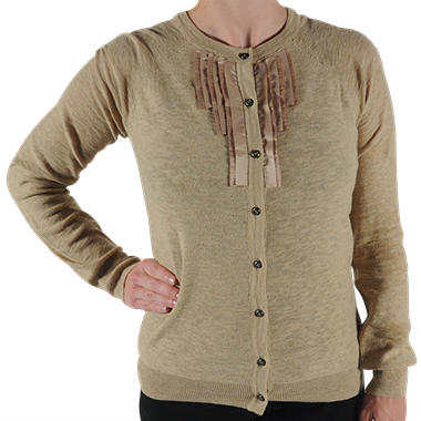 Pleated Cardigan Sweater - Various Colors