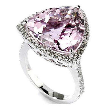 Sonia B. 14 ct. Brazilian Kunzite & Diamond Ring