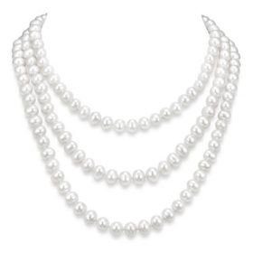 Pearl necklaces pearl pendants pearl jewelry sams club 9 10 mm white cultured freshwater pearl 64 endless necklace aloadofball Gallery