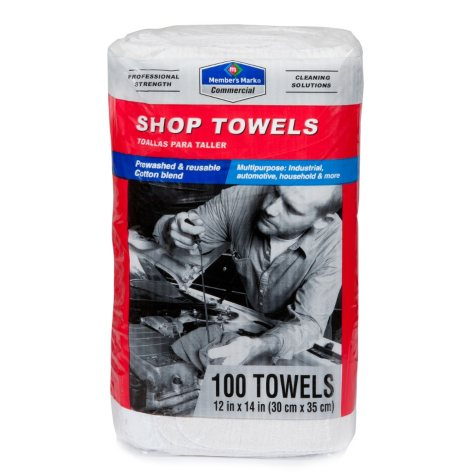 Member's Mark Commercial Shop Towels - White - 100 ct.