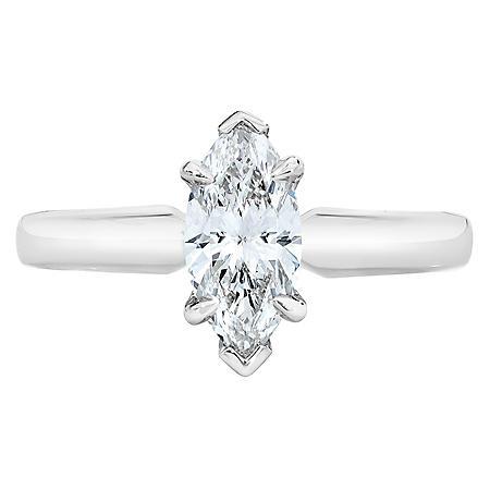 1.01 ct. Marquise Cut Diamond Platinum Solitaire Ring (D, VS1)