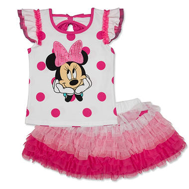 Girl's Pink Minnie Mouse Scooter Set