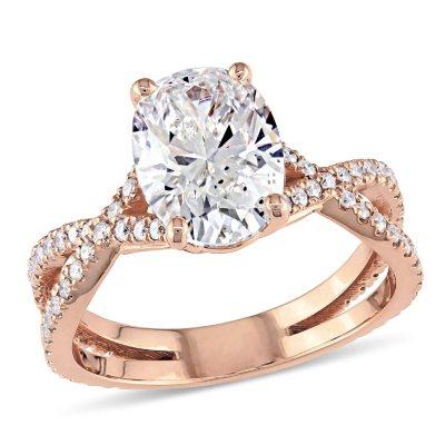 239 CT TW Infinity Split Shank Diamond Engagement Ring in 18K
