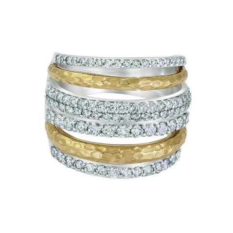 1.50 CT. T.W. Diamond Ring in 14K Two-tone Gold