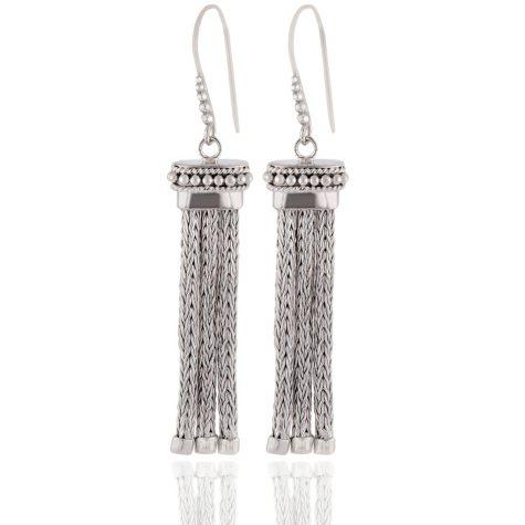 Robert Manse Tassel Dangle Earrings in Sterling Silver