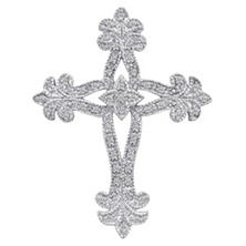 0.14 ct. t.w. Antique-Style Diamond Cross Pendant in Sterling Silver (H-I, I1)