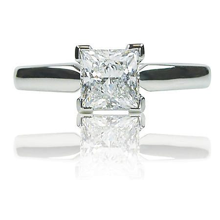 1.01 ct. Princess-Cut Diamond Ring in Platinum Setting (H, VVS2)