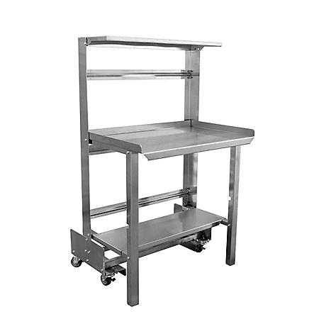"""48"""" Mobile Roll-Away Retractable Prep Station"""