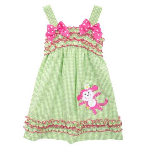 Emily Rose Monkey Seersucker Dress