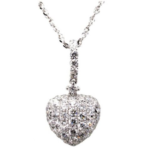 0.32 ct. t.w. Round Diamond Heart Pendant in 14k White Gold (G,SI2)