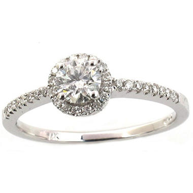 OFFLINE0.50 ct. t.w. Round Diamond Ring in 14k White Gold (G,SI1)
