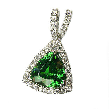 2.34 ct. Tsavorite & Diamond Pendant