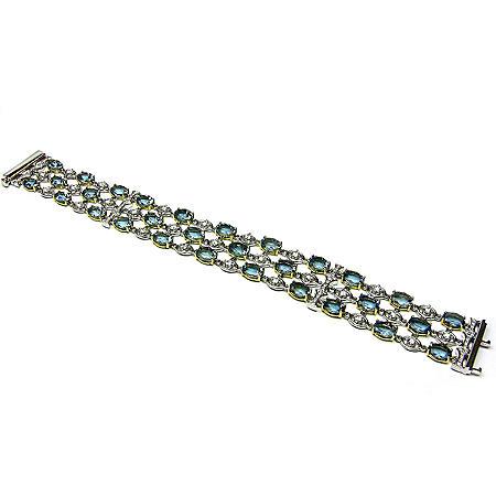 20.98 ct. t.w. Aquamarine & Diamond Bracelet
