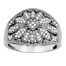 0.20 ct. t.w. Diamond Vintage Ring in Sterling Silver (H-I, I1)