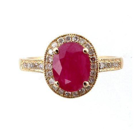 14K Composite Ruby & Diamond Ring