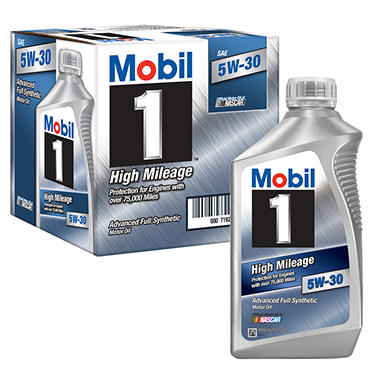 Mobil 1 5w 30 high mileage advanced full synthetic motor for Best high mileage synthetic motor oil