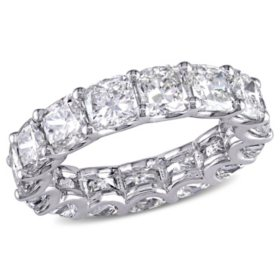 Allura 7.75 CT. T.W. Cushion-Cut Diamond Eternity Wedding Ring in 18k White Gold
