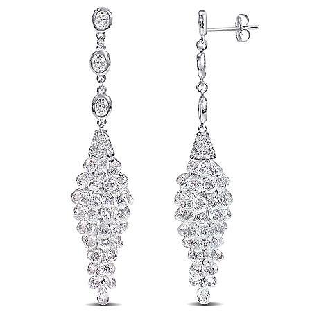Allura 32.19 ct. t.w. Diamond Chandelier Drop Earrings in 18k White Gold
