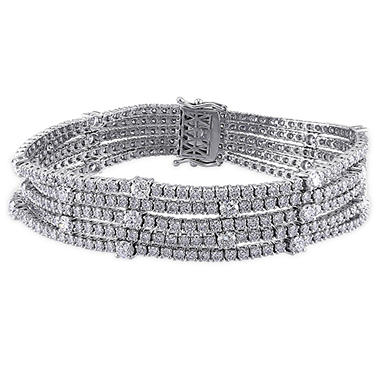 13.12 ct. t.w. Multi-Row Diamond Tennis Bracelet in 18k White Gold
