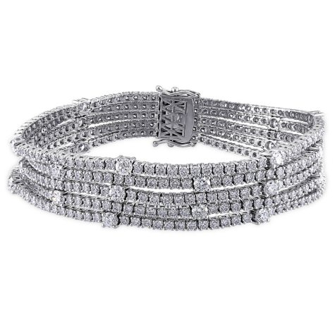 Allura 13.12 ct. t.w. Multi-Row Diamond Tennis Bracelet in 18k White Gold