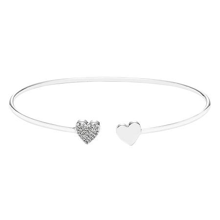 Diamond Heart Bangle