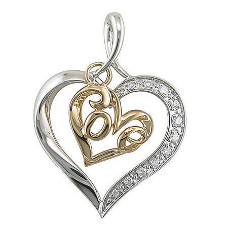 ".10 ct. t.w. Diamond ""Love"" Pendant (H-I, I1)"