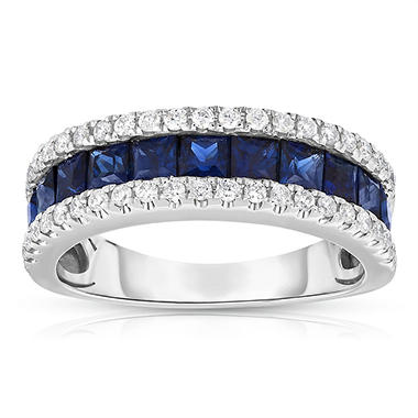 .25 CT. T.W. Diamond and 1.5 ct. t.w. Sapphire Band