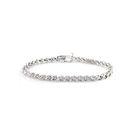 1 ct. t.w. Swirl Tennis Bracelet (G-H, SI2-I1)
