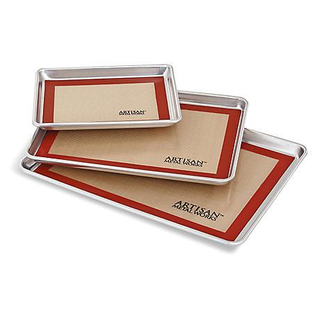 Artisan Metal Works Aluminum Sheet Pans and Silicone Baking Mats (6-piece bundle)