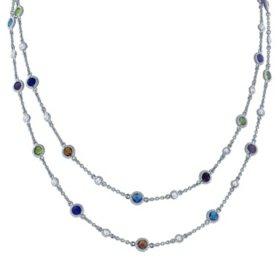Gem RoManse Multi-Gemstone Necklace in Sterling Silver