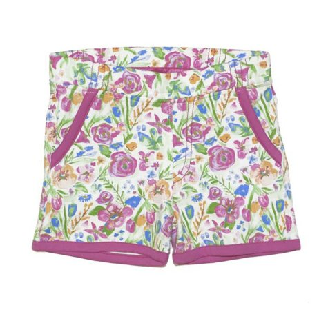 Girls' Organic, Non-Toxic Dyed Flower Shorts