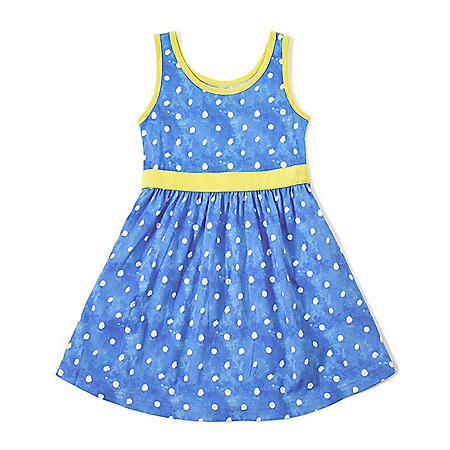 Girls' Organic, Non-Toxic Dyed Blue Dress