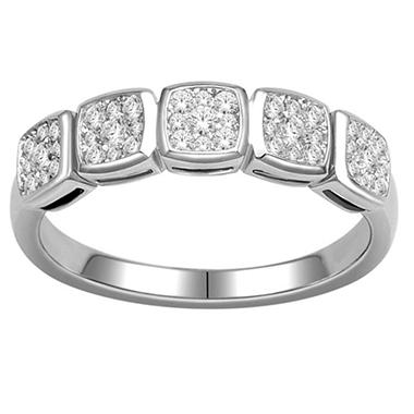 Imperial Diamond Collection 0.35 ct. t.w. Cushion Imperial Diamond Band in 14k White Gold (I, I1)