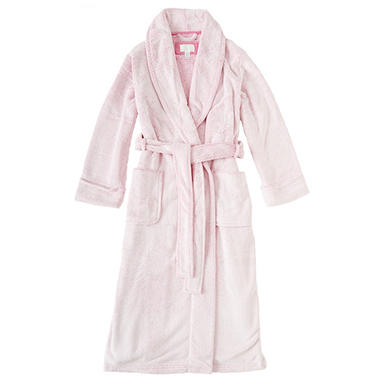 Ladies Soft Plush Robe (Assorted Colors)