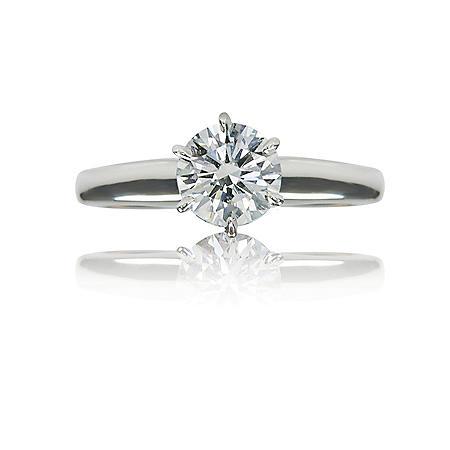 1.22 ct. Round Brilliant-Cut Diamond Solitaire Ring  (I, VS1)