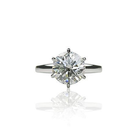 3 ct. Round Brilliant-Cut Diamond Solitaire Ring (H, SI1)