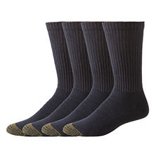 Gold Toe 4 Pair Casual Crew Sock